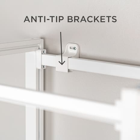 Image of Anti-top stabilization bar of closet system