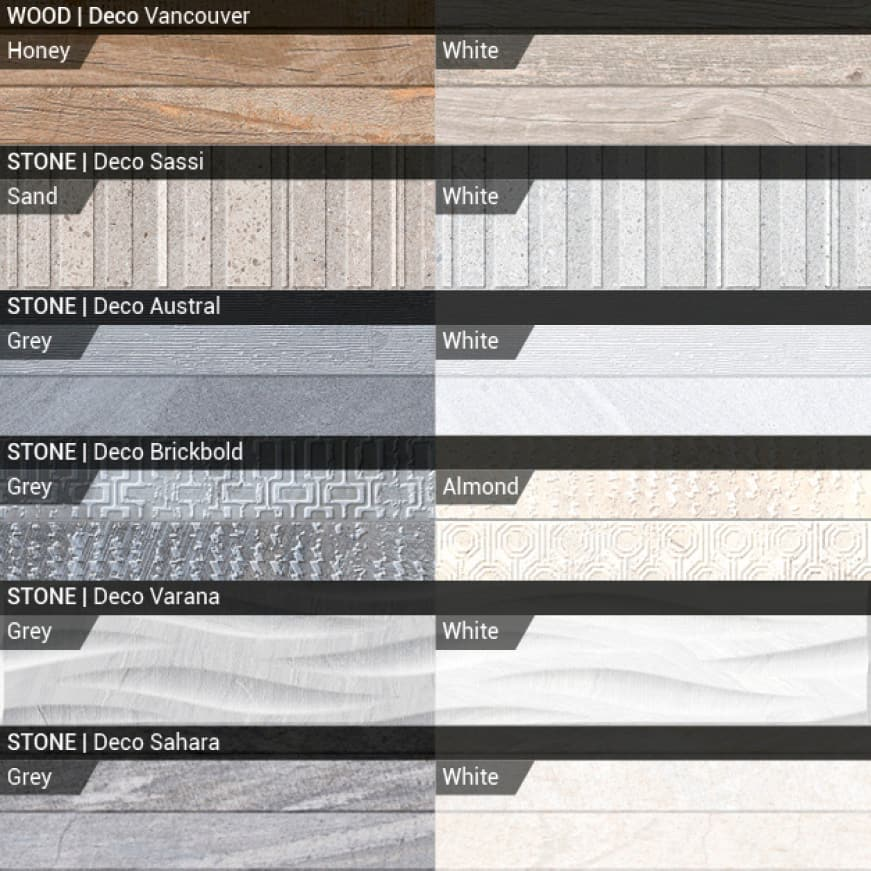 Get the look of natural stone in high definition that brings visual texture, color and flair  to your environment
