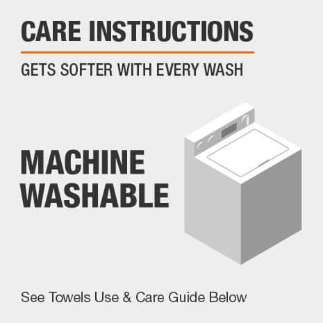 Towels are machine washable