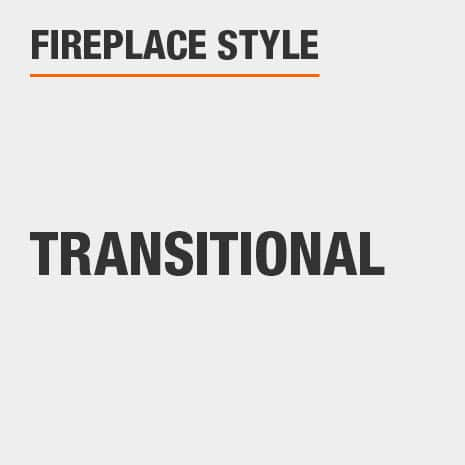 This fireplace style is Transitional
