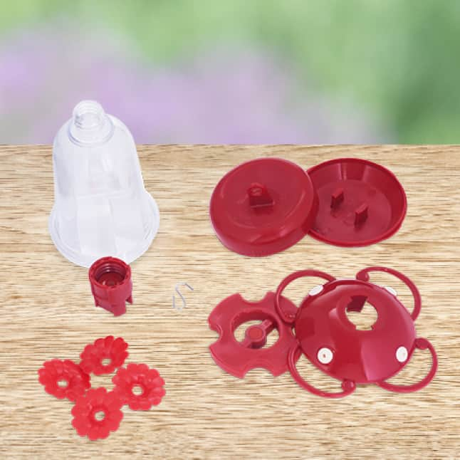 easy to clean, core top fill hummingbird feeders