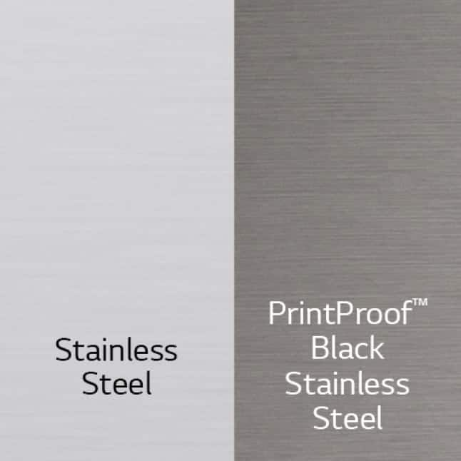 Available in Stainless Steel and PrintProof Black Stainless Steel.