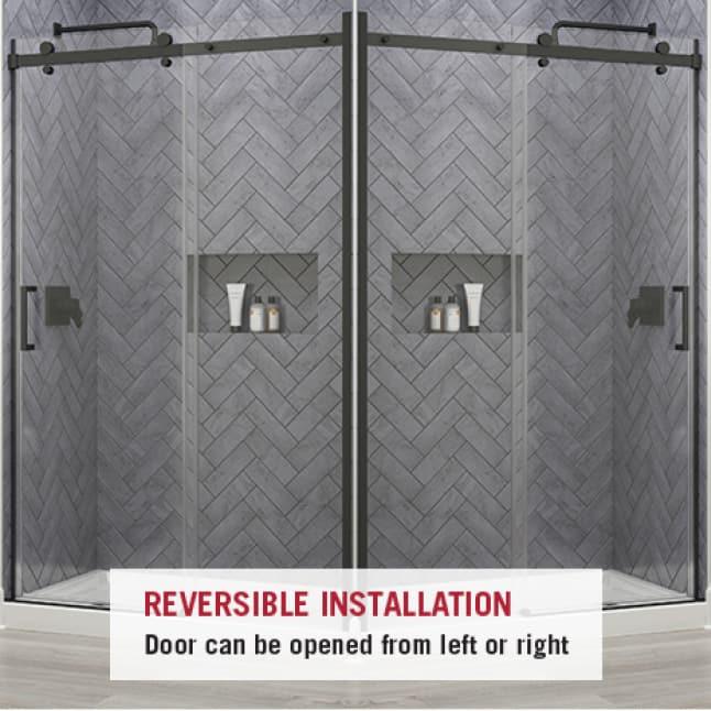 Shower Door Reversible Installation