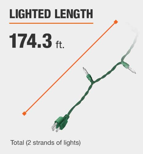 The lighted length is 164 feet