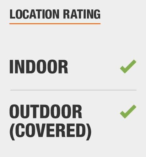 This item is rated indoor/outdoor (covered)