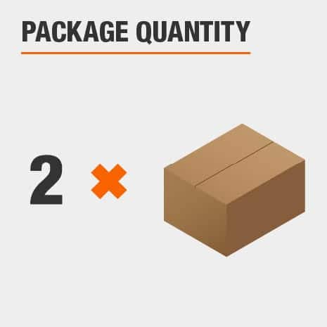 There is 2 lights included in the package.