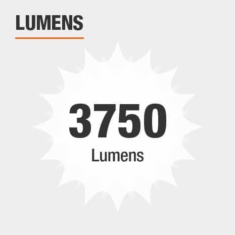 This light has a brightness of 3750 lumens.