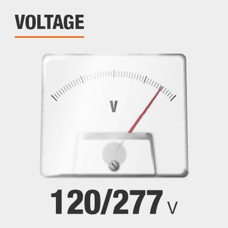 This light's input voltage is 120/277.