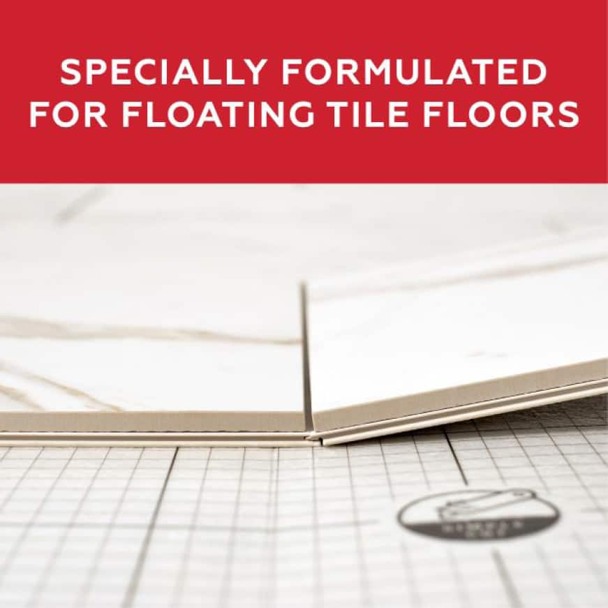 QuicTile Grout offers maximum strength & flexibility to support floating tile floors such as QuicTile