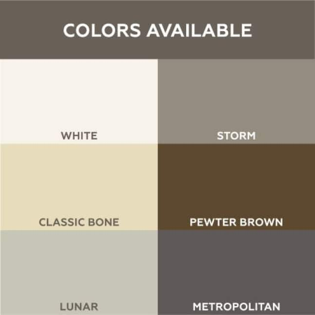 QuicTile Grout comes in a variety of colors to complement your tile project.