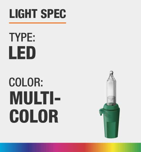 The light type is LED and color is multi