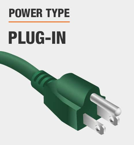 Powered by plug-in outlet