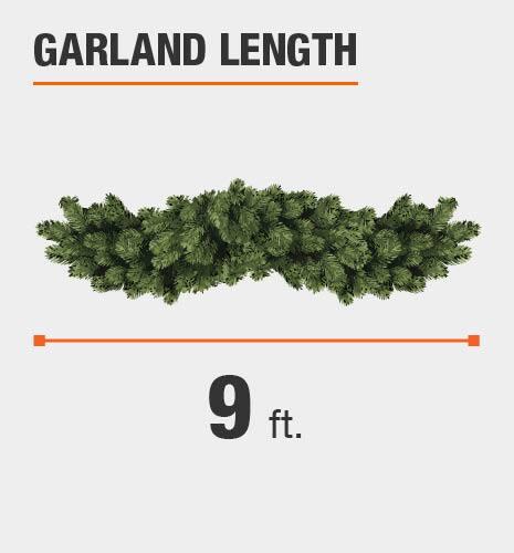 Garland length is 9 feet