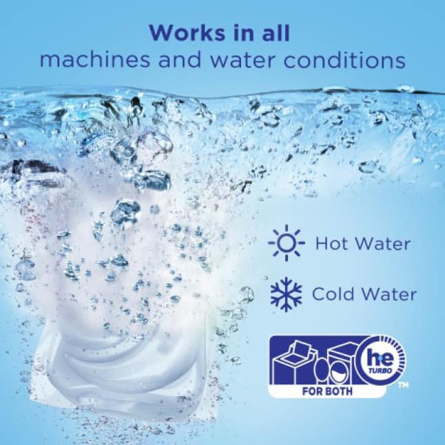 Tide Free and Gentle works in all machines and water conditions
