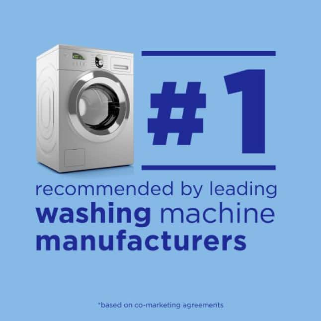 Tide is the number one recommended laundry brand by leading washing machine manufacturers