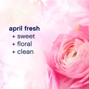 Downy April Fresh Fabric Conditioner leaves laundry with a pleasing floral scent.