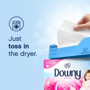 Add Downy Sheets to the dryer for long-lasting freshness that fights static, too.