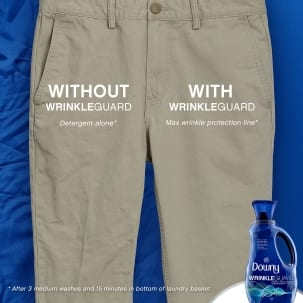 Keep creases from cramping your style with Downy WrinkleGuard