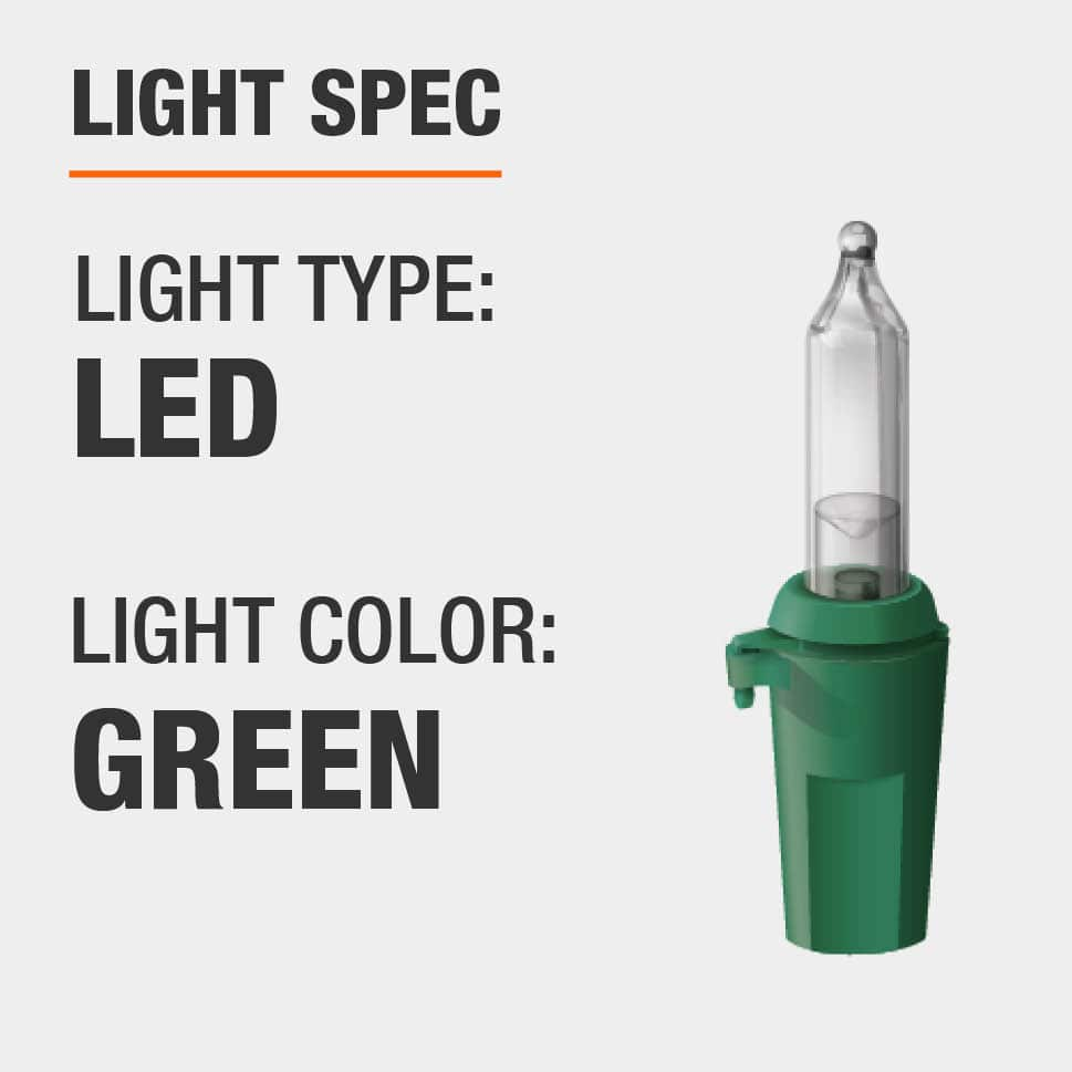 The light type is LED and color is green