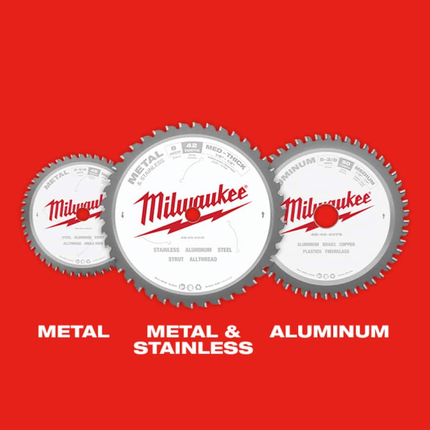 Available in Metal, Metal & Stainless, and Aluminum Cutting