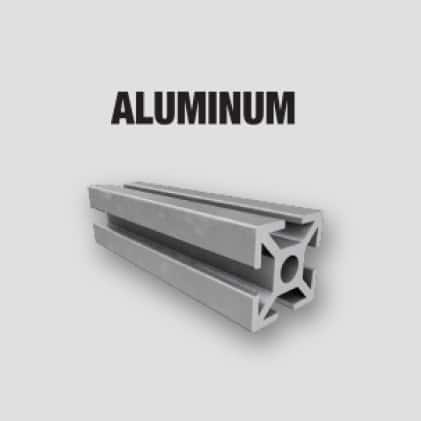 Aluminum, Brass, Plastics (PVC), Fiberglass, and Copper
