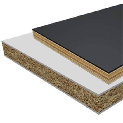 This is an image of a laminate, melamine or veneered plywood cutting material application