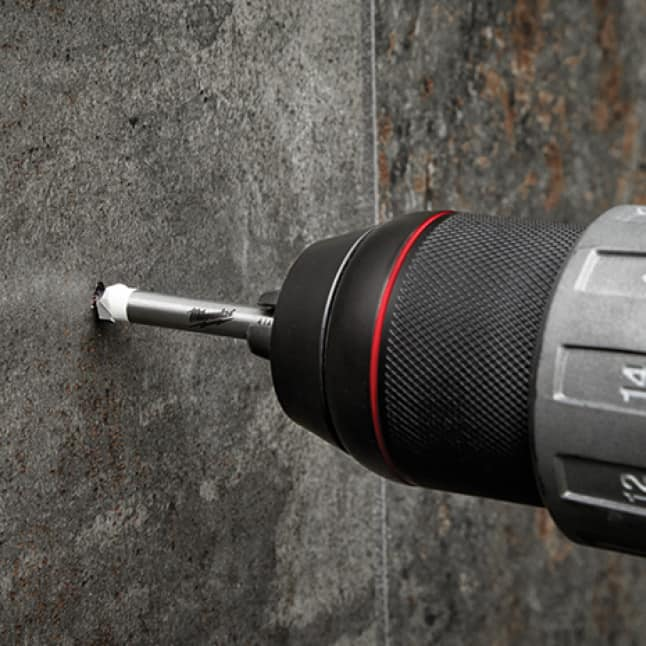 For faster drilling in granite, marble, and stone
