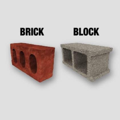 Drilling in Brick and Block