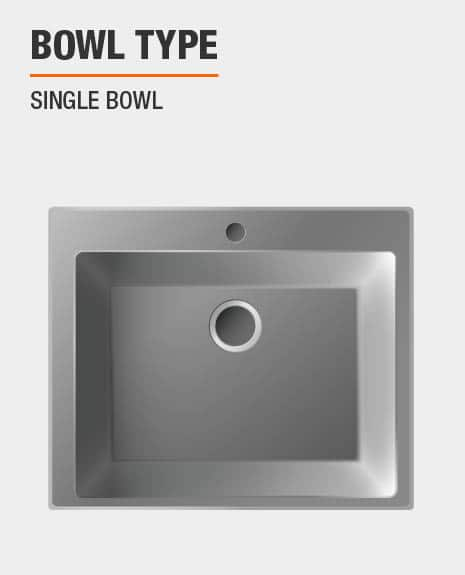 Sink is single bowl