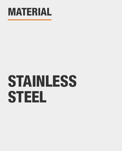 Sink material is stainless steel