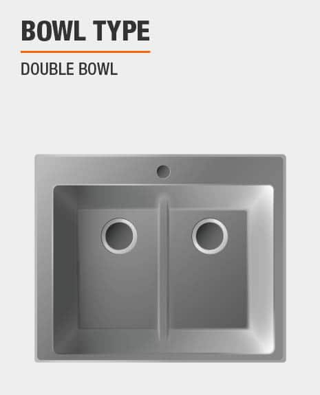 Sink is double bowl