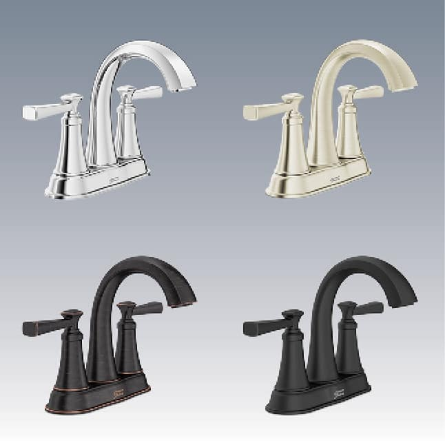 Rumson faucet in four finishes
