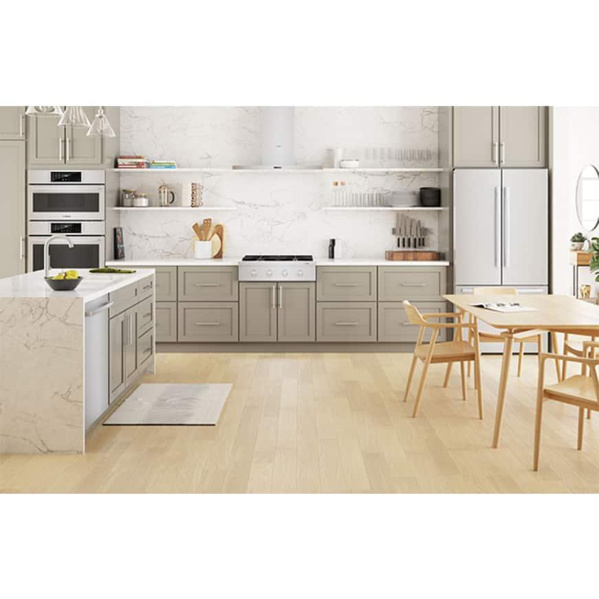 Bosch kitchen featuring 30-inch industrial-style gas rangetop model #RGM8058UC.