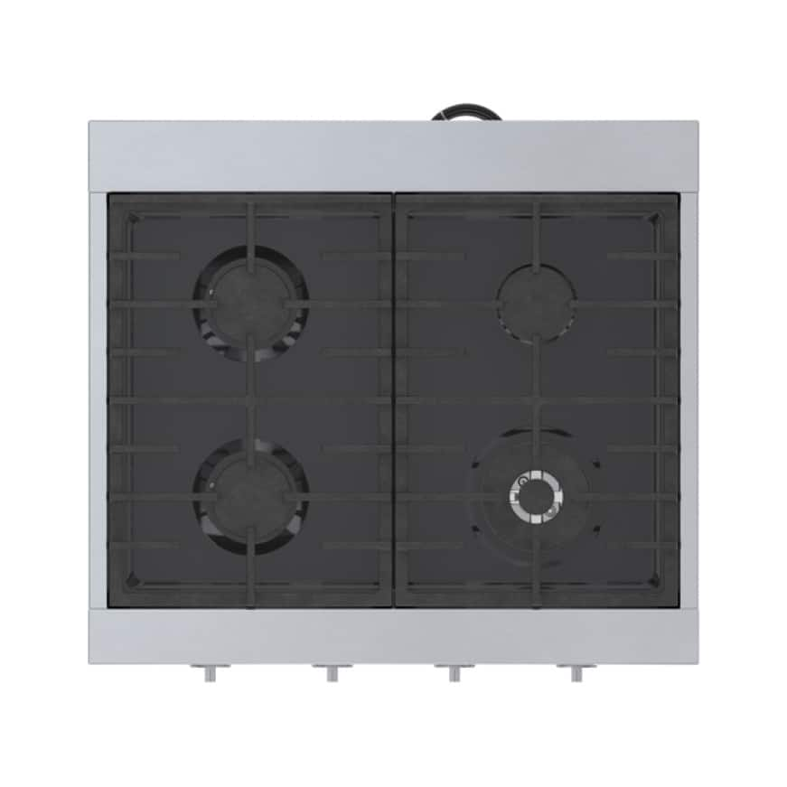 Top view of Bosch 4 energy efficient burners.