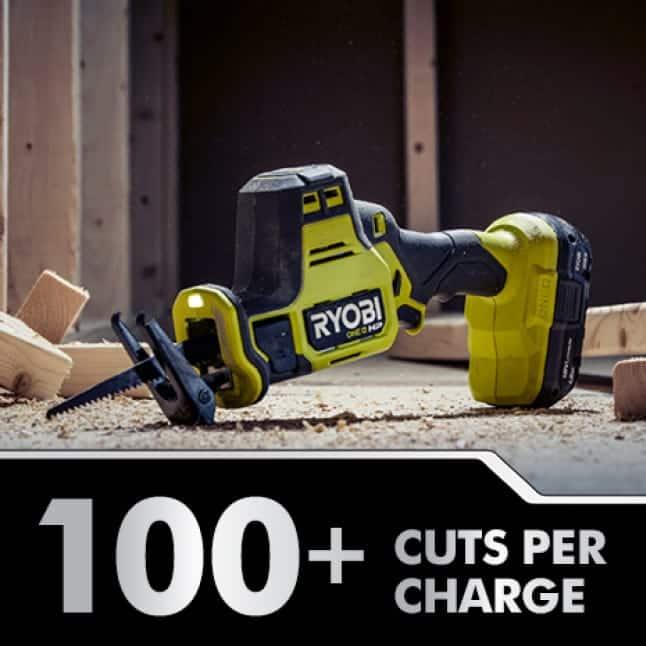 100+ Cuts Per Charge