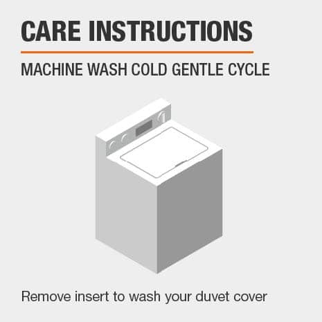 Duvet cover is machine washable