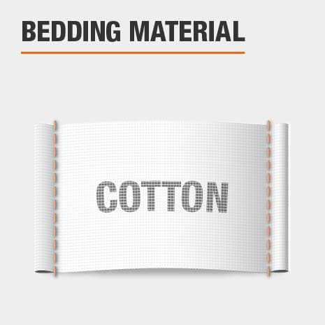 Duvet cover is made of cotton material