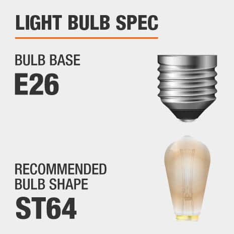 Requires E26 ST64 light bulbs