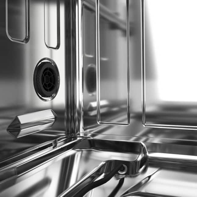 Stainless Steel Interior improves drying and resists odors.