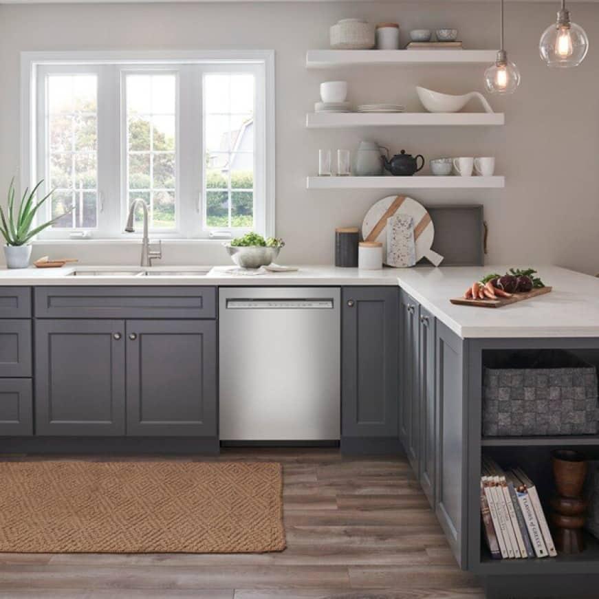 KitchenAid brand's quietest cleaning at 39 dBA.