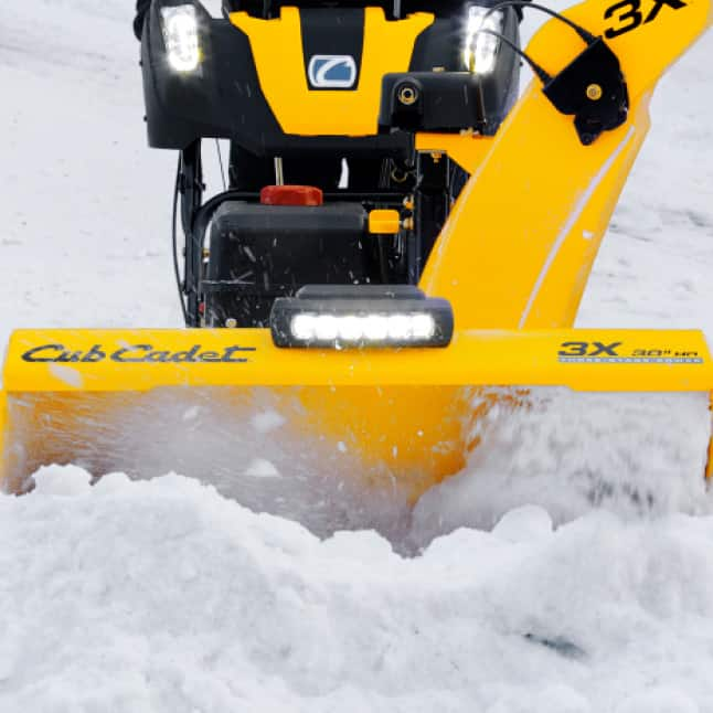 "Cub Cadet three-stage snow blower, 23"" intake height"