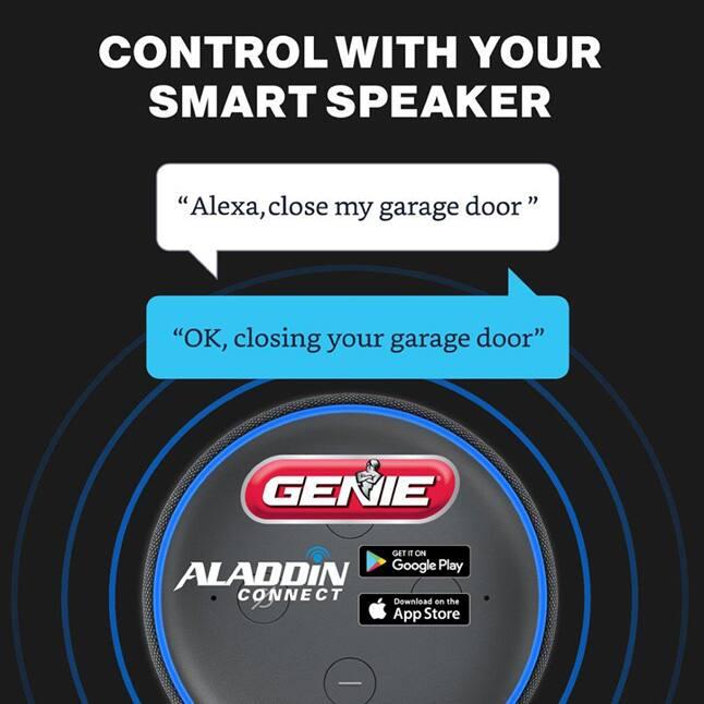 The Genie Wall Mount Garage Door Opener Alexa