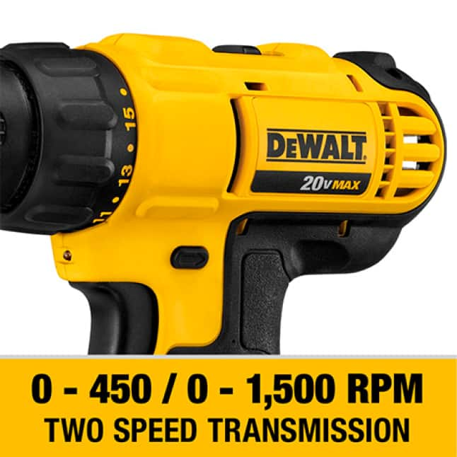 The DCD771 has a high performance motor that delivers 300 UWO of power for a range of applications.