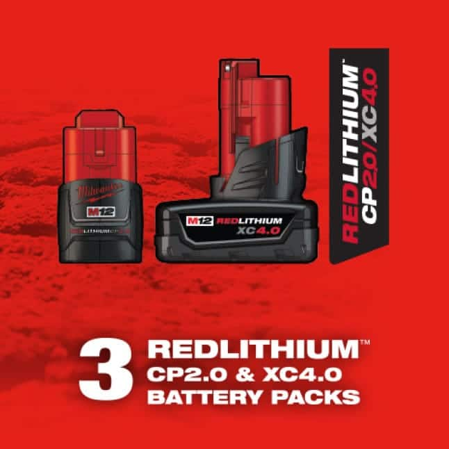 M12 REDLITHIUM offers optimized performance for every tool and battery combination.