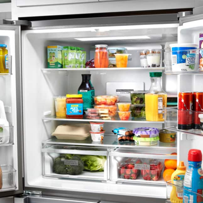 Keep shelves cold with TotalCoverage cooling