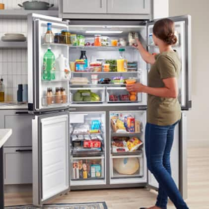 Set your refrigerator to the coldest temperature for 2 hours with the Fast Cool option.