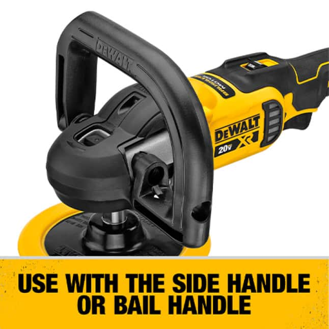 Use with the side handle or bail handle.