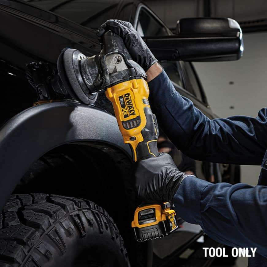 DEWALT brushless motor delivers up to 50% more run time over brushed at 6.5 lbs.