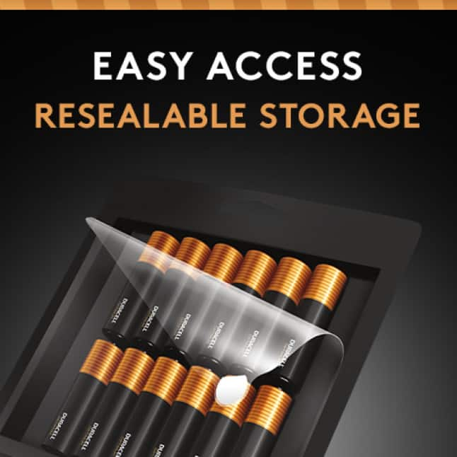 Easy Access Resealable Storage