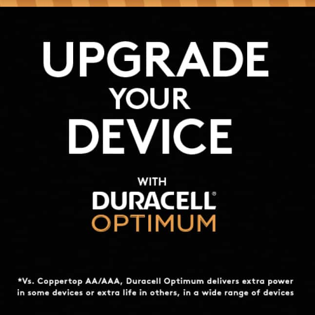 Upgrade Your Device With Duracell Optimum*